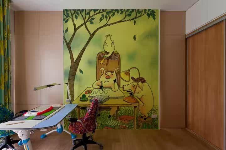 衡阳卧室手绘背景墙高品质家装墙绘壁画小清新风格