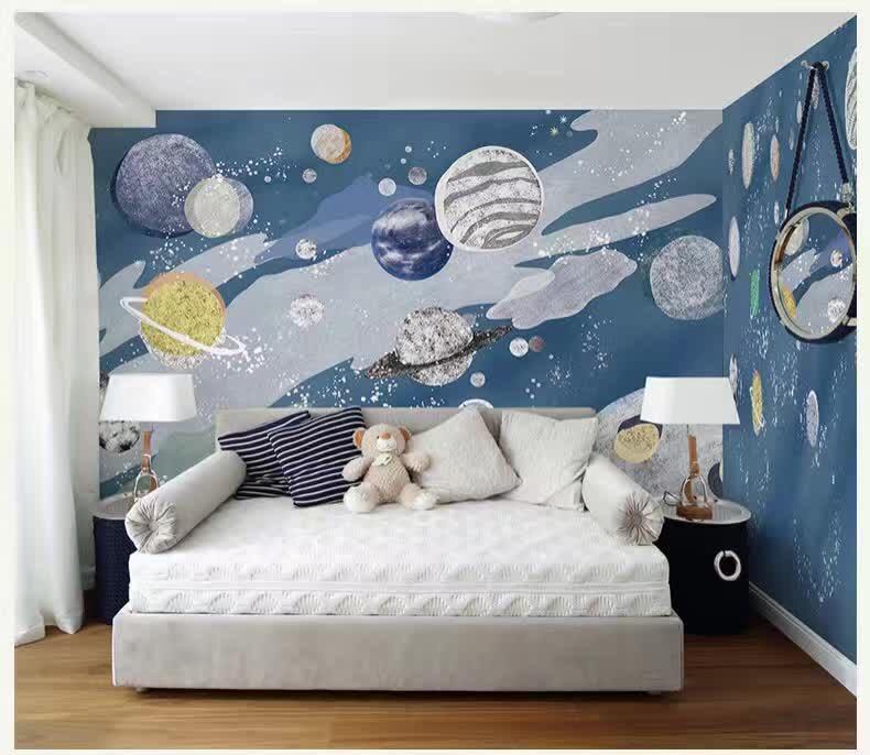 衡阳家庭儿童房手绘背景墙高品质家装儿童房墙绘壁画专家--弄彩堂彩绘